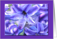 Thinking of you Estranged daughter Hibiscus card