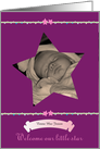 Welcome our little Star Birth Announcement card