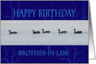 Happy Birthday brother-In-law flock card