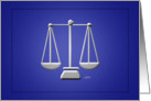 Scales of Justice Lawyer Blank Note card