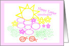 Happy Easter Granddaughter Color me card