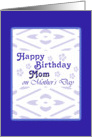 Happy Birthday mom Mother's Day card