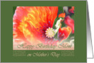 Happy Birthday mom Mother's Day Poppy card