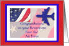 Congratulations Air force Retirement Flag card