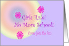 Girls Rule Invitation card