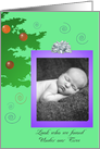 Baby Boy Christmas Announcement card