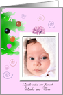 Baby Girl Christmas Announcement card