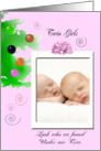 Baby twin girlsl Christmas Announcement card