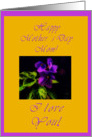 Violet Mother's Day card