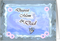 Dearest Mom and Dad card