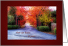 autumn thanks card