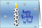 Soccer Candle card