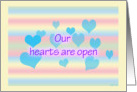 Open hearts card