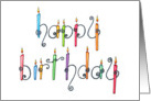 Happy Birthday Candles - Birthday Card