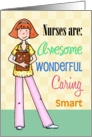 Nurses Are Awesome - Nurses Day Card, for female card