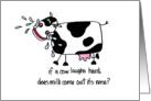 Laughing Cow - Birthday Card