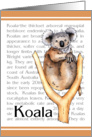 Koala - Zoo Invitation card