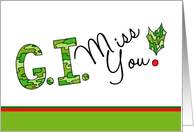 G. I. Miss You Military Christmas Card