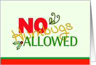 Christmas - No Humbugs Allowed, Humor Invitation card