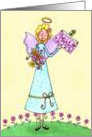 Spring Angel card