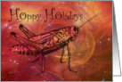 Hoppy Holidays Grasshopper Card