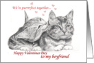 Happy Valentines Day Boyfriend card