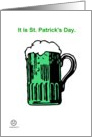 St. Patrick's Day - Green Beer & Snakes card