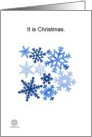 Christmas Snowflakes card