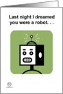 Thinking of You. . .Robot card