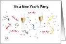 New Year's Party Invitation card