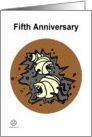 Fifth Anniversary card