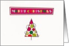 Merry Christmas Polka Dot Tree card
