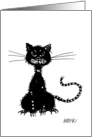 Ragged Black Cat card