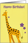 Funny Giraffe Birthday card