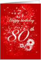 Happy Birthday - 80 th card