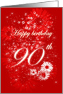 Happy Birthday - 90th card