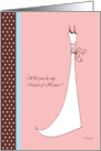 Will you be my Maid of Honor ? wedding attendants cards