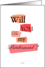 Bridesmaid card - Will you be my Bridesmaid card - wedding graphic design cards. card