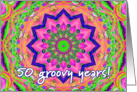 multi kaleidoscope - Happy 50th Birthday card