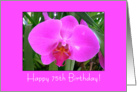 purple orchid - Happy 75th Birthday card