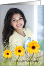 Yellow Gerbera Daisies - birthday invitation - photo card