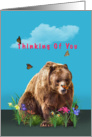Thinking of You, Bear, Butterflies, and Flowers card