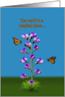 Birthday, Sweet Peas and Butterflies, Humor card