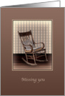 Missing You, Empty Vintage Rocking Chair card