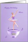 Birthday, Niece, Music Box Ballerina card