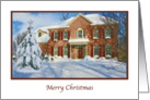 Christmas, Merry, Snow, House card