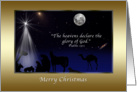 Christmas, Religious, Nativity, Stars, Moon card