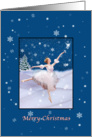 Christmas, Snow Queen Ballerina, Star, Snowflakes card