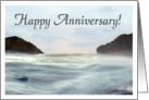 Misty Ocean Wave Happy Anniversary card
