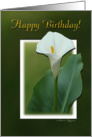 Happy Birthday Calla lily Flower in 3D card